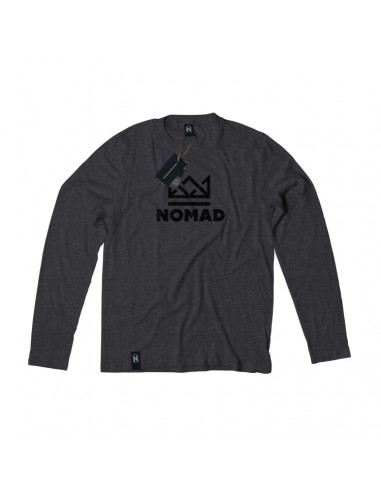 CROWN L/S TEE CHARCOAL WHITE