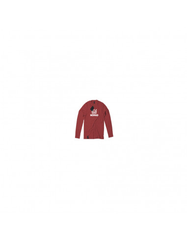 CROWN L/S TEE RED WHITE