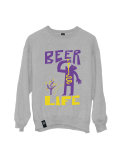 BEER LIFE CREWNECK GREY