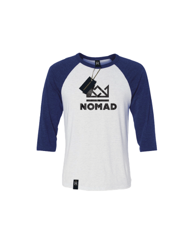 NOMAD CROWN RAGLAN TEE BLACK GREY