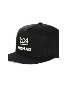 NOMAD CROWN SNAPBACK CAP BLACK WHITE